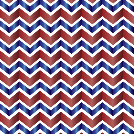 Red, white and blue seamless chevron background