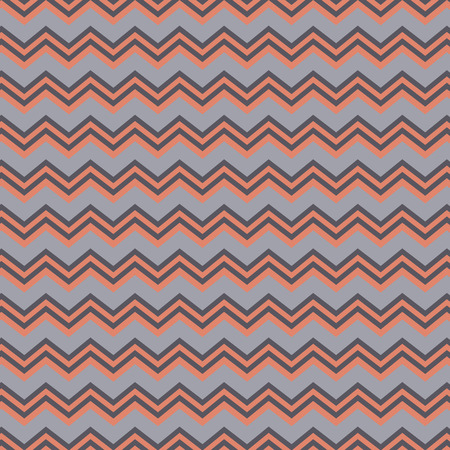 Chevron repeating seamless background in peach and grey Illustration