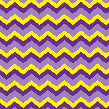 Seamless repeating chevron zig zag background pattern in purple and yellow Illustration