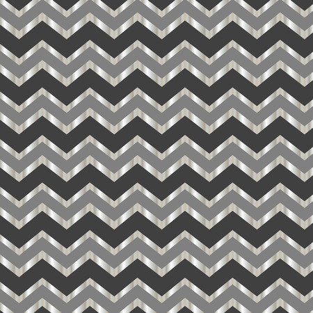 Seamless repeating chevron zig zag background pattern in grey and silver