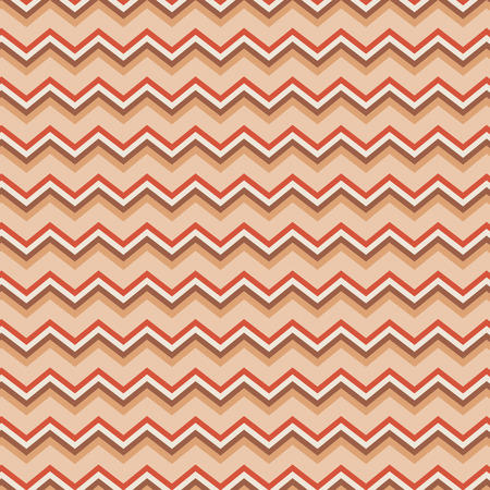 Peach and orange chevron repeating seamless pattern for background Vector