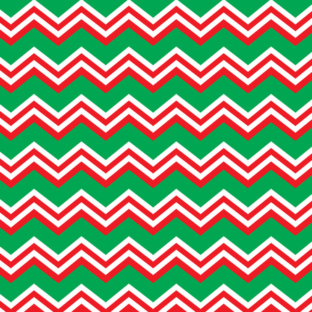 Seamless repeating chevron zig zag background in Christmas holiday colors red and green Stock Vector - 32457550