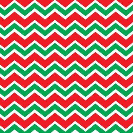 Seamless repeating chevron zig zag background in Christmas holiday colors red and green Stock Vector - 32457551
