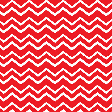 Seamless repeating chevron zig zag background in Christmas red candy cane colors Illustration
