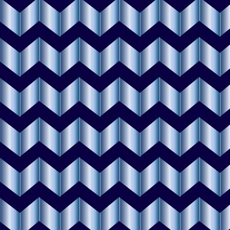 metallic background: Metallic shiny blue zig zag background