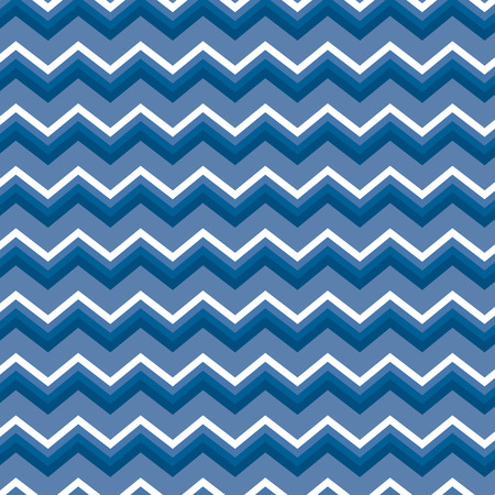 Seamless repeating blue and white zig zag background Illustration