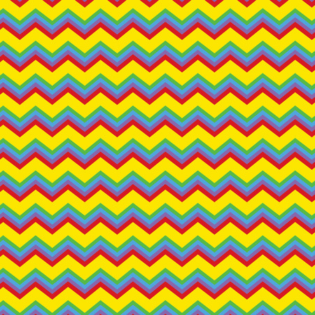 Repeating zig zag pattern in bright colors