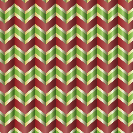 Repeating holiday ribbon zig zag background Illustration