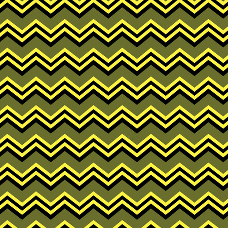 Seamless zig zag background in yellow, green and black Illustration