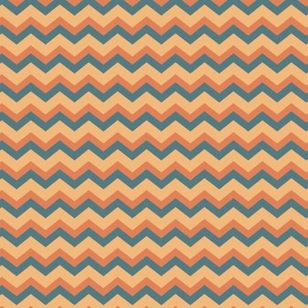 Peach and blue seamless repeating zig zag background