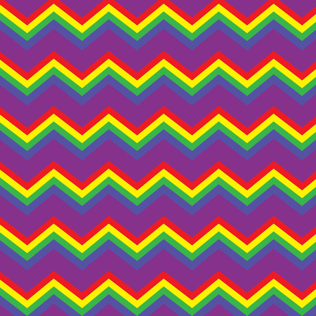 Repeating rainbow zig zag pattern