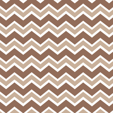 Seamless repeating zig zag chevron in tans and white