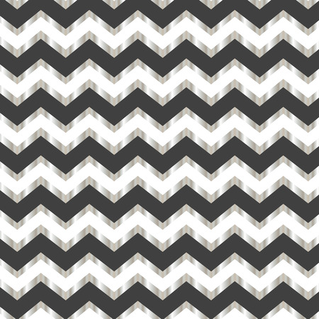 Seamless repeating white silver and grey zigzag pattern Illustration