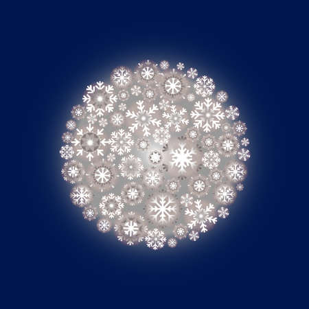 Snowflake ball or ornament with blue background Stock Photo - 32925730