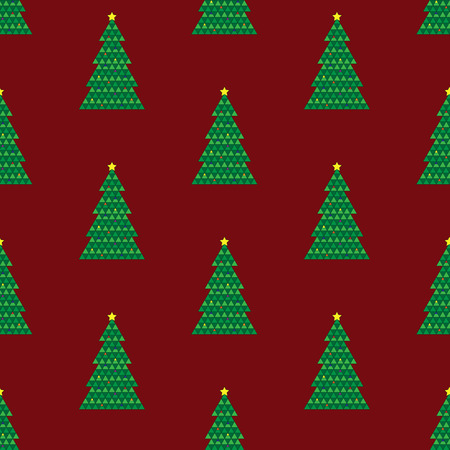 Geometric Christmas tree repeating background pattern Stock Vector - 32963998