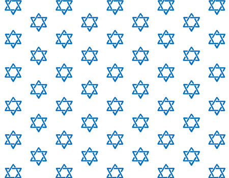 Repeating blue Star of David background pattern Vector