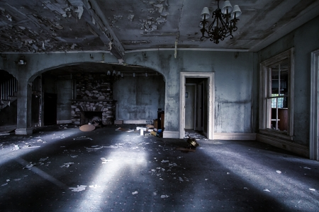 spooky: Abandoned house interior