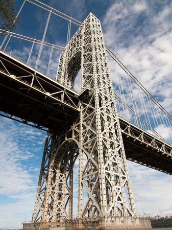 george washington: Apoyo puente George Washington Foto de archivo