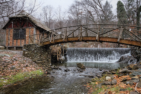 grist mill: Old paper mill Stock Photo