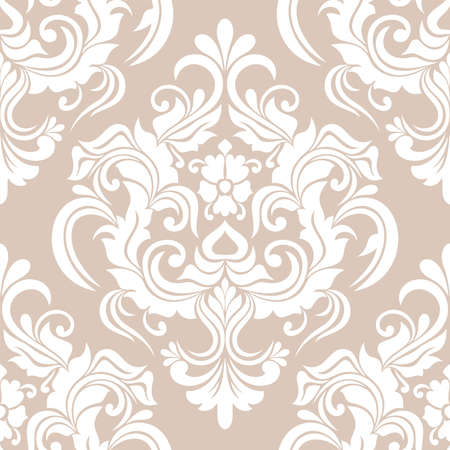 Damask seamless pattern. for wallpapers, elegant luxury texture floral ornament baroque. vector background.