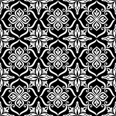 Abstract seamless pattern. Ornamental floral damask ornate background. Vector illustration.