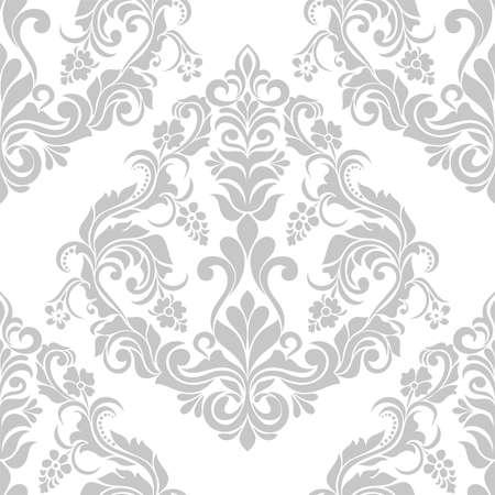 Floral damask seamless pattern.