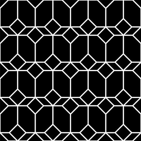 Abstract geometric seamless pattern. black and white graphic design print illusion. vector background.