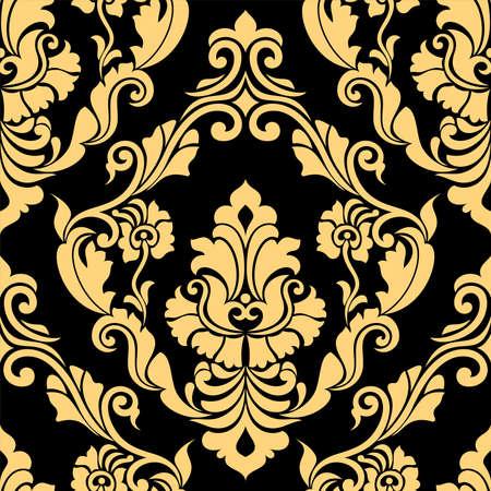 Damask ornamental seamless pattern. floral design wallpaper, fabric. element vector background. Vector Illustratie