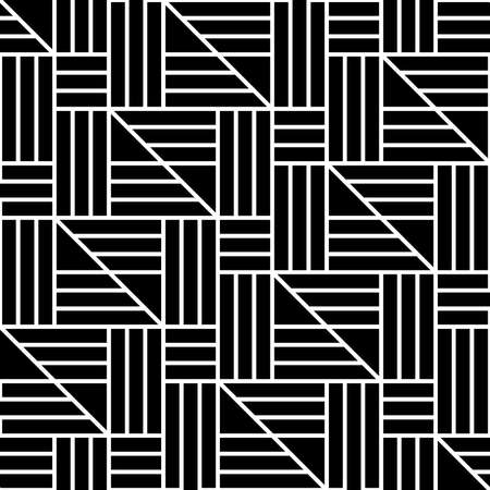 Abstract geometric pattern with stripes, lines. Black and white Seamless vector background.