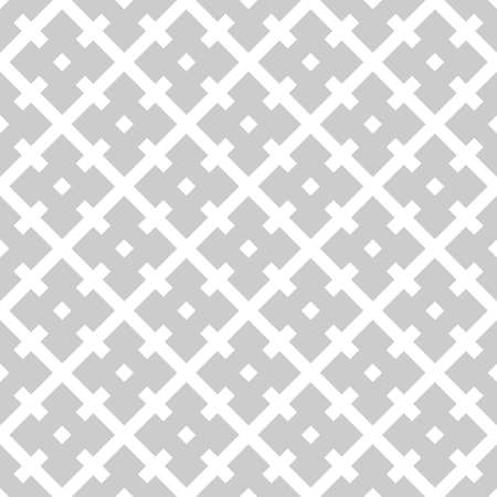 Abstract geometric seamless pattern with square cross line Gray and white vector background