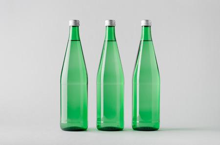 seltzer: Water Bottle Mock-Up - Three Bottles Stock Photo