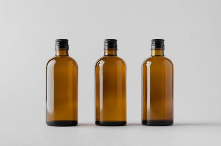 薬品ボトル モックアップ-3 本