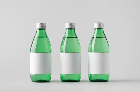 seltzer: Water Bottle Mock-Up - Three Bottles. Blank Label