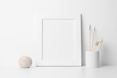 8x10 Frame Mock-Up - Portrait 写真素材
