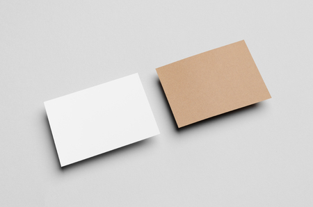 a6: Kraft & White A6 Flyer  Postcard  Invitation Mock-Up