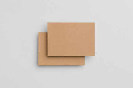 a6: Kraft A6 Flyer  Postcard  Invitation Mock-Up