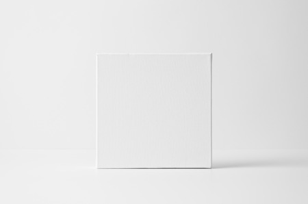 Square Art Canvas Mock-Up 免版税图像
