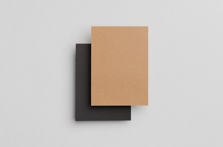 a6: Black & Kraft A6 Flyer  Postcard  Invitation Mock-Up