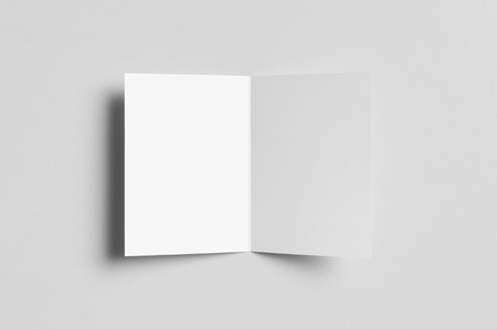 a6: A6 Bi-Fold  Half-Fold Brochure Mock-Up