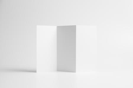 A4 Z-Fold / Fan Fold Brochure Mock-Up. Seamless Background. Reklamní fotografie