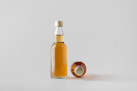 rakia: Miniature SpiritsLiquour Bottle Mock-Up - Two Bottles