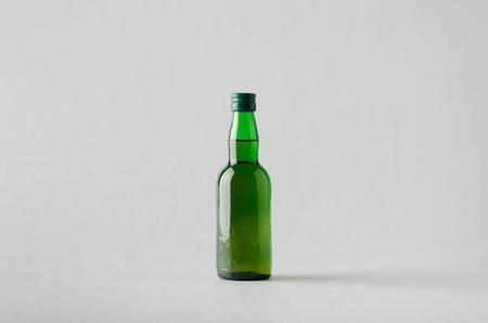 rakia: Miniature SpiritsLiquour Bottle Mock-Up Stock Photo
