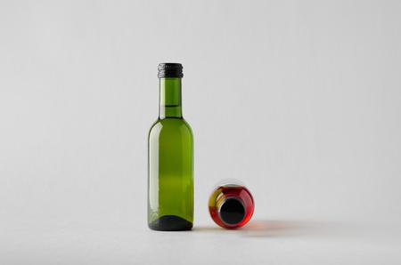 Wine QuarterMini Bottle Mock-Up - Two Bottles