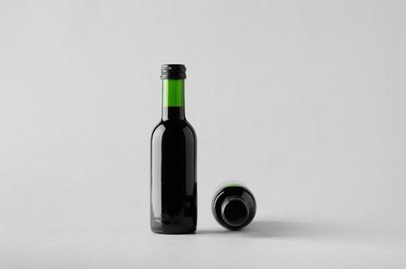 zinfandel: Wine Quarter Bottle Mock-Up - Two Bottles