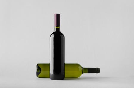 white zinfandel: Wine Bottle Mock-Up - Two Bottles
