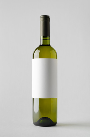pinot grigio: Wine Bottle Mock-Up. Blank Label Stock Photo