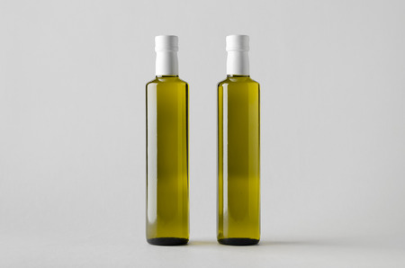 linseed: Olive  Sunflower  Sesame Oil Bottle Mock-Up - Two Bottles