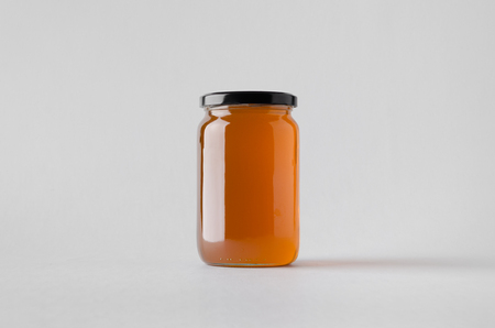 Honey Jar Mock-Up Stockfoto