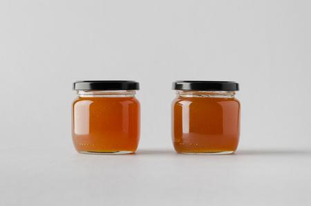Apricot Jam Jar Mock-Up - Two Jars