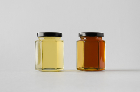 clovers: Honey Jar Mock-Up - Two Jars
